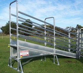 Cattle Loading Ramp- Adjustable 4.8m